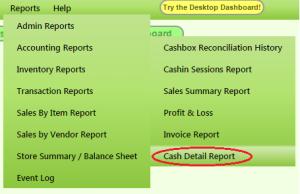 CashDetailReport